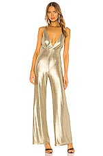 Michael Costello x REVOLVE Ditra Jumpsuit in Gold