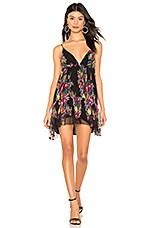 MICHAEL COSTELLO X REVOLVE Danica Dress in Black Floral