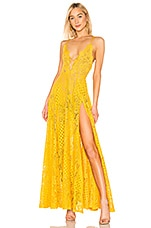Michael Costello X REVOLVE Victory Gown in Marigold