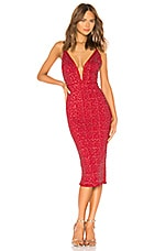 Michael Costello x REVOLVE Kendall Dress in Ruby Red