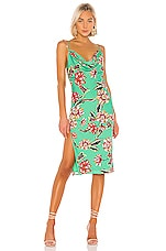Michael Costello x REVOLVE Bentley Dress in Green Floral
