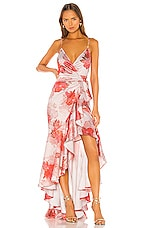 Michael Costello x REVOLVE Atienne Dress in Rose Floral