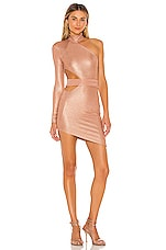 Michael Costello x REVOLVE Selia Mini Dress in Metallic Rose