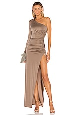 Michael Costello x REVOLVE Gilly Maxi Dress in Taupe