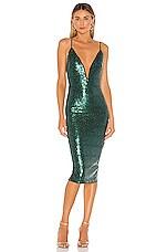 Michael Costello x REVOLVE Kendall Midi Dress in Emerald