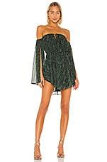 Michael Costello x REVOLVE Geneve Mini Dress in Green Snake