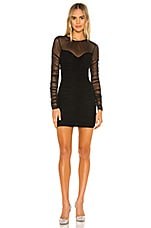 Michael Costello x REVOLVE Helena Mini Dress in Black