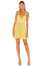 Michael Costello x REVOLVE Sala Mini Dress in Yellow Stripe