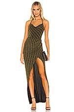 Michael Costello x REVOLVE Semira Gown in Black & Gold