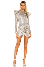 Michael Costello x REVOLVE Hugh Mini Dress in Brown Snake