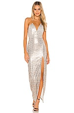 Michael Costello x REVOLVE Hersh Gown in Brown Snake