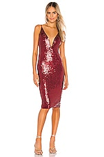 Michael Costello x REVOLVE Kendall Midi Dress in Maroon