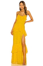 Michael Costello x REVOLVE Justine Gown in Yellow