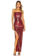 Michael Costello x REVOLVE Hugo Gown in Maroon