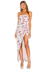 Michael Costello x REVOLVE Violet Gown in Pink Floral