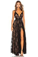 Michael Costello x REVOLVE Paris Gown in Black