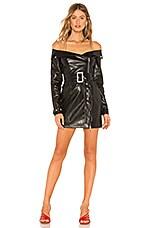 Michael Costello x REVOLVE Evita Mini Dress in Black