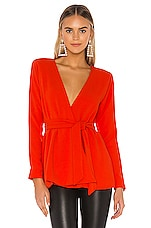Michael Costello x REVOLVE Linda Jacket in Red Orange
