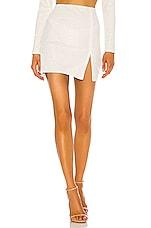 Michael Costello x REVOLVE Sierra Mini Skirt in White