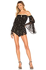 Michael Costello x REVOLVE Natie Romper in Rainbow Dot