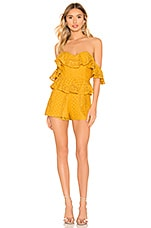 Michael Costello X REVOLVE Tilly Romper in Marigold
