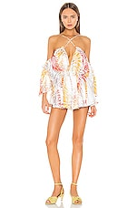 Michael Costello x REVOLVE Austen Romper in Tropical Palm