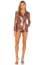 Michael Costello x REVOLVE Harley Romper in Bronze