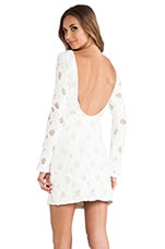 Chloe Dress in Textured White Lace