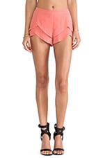 Natalia Tiered Shorts in Coral
