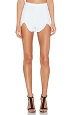 Rome Front Tulip Shorts in White