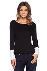 Ashton Sweater in Black & White