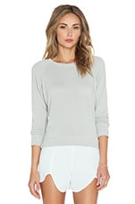 Conrad Brushed Sweater in Light Grey