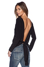 Miranda Knot Tie Blouse in Black