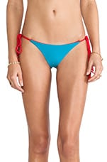 Jagger Reversible Tie Side Bikini in Scarlett & Indian Summer