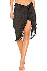 Michael Stars Silky Solid Sarong in Black