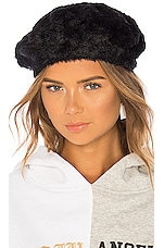 Michael Stars Fuzzy Beret in Black