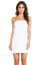 Strapless Tie Waist Dress in White