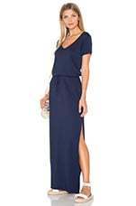 ROBE MAXI V NECK DRAWSTRING