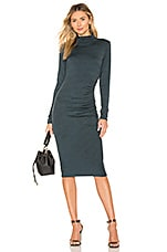 Michael Stars Mock Neck Midi Dress in Everglades