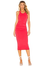 Michael Stars Racer Back Midi Dress in Teaberry