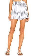 Michael Stars Trisha Shorts in Admiral & White Stripe