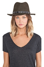 Michael Stars Top Knot Wide Brim Fedora in Topiary