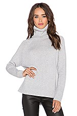 Michael Stars Long Sleeve Turtleneck Sweater in Heather Grey