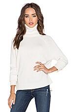 Michael Stars Long Sleeve Turtleneck Sweater in Ivory