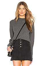 Michael Stars Long Sleeve Mock Neck Top in Charcoal