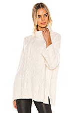 Michael Stars Lex Poncho in Chalk