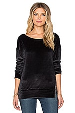 Long Sleeve Open Crew Neck Pull Over With Zip Detail en Oxide