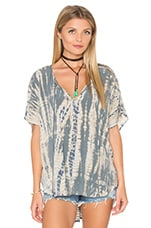 Naomi Wash Peasant Top en Oyster