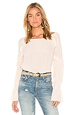 Michael Stars Frill Sleeve Top in Blush