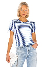 Michael Stars Colleen Tee in Blue Multi
